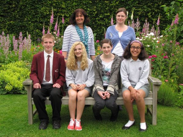 Years 7-9 1st to 3rd Place Winners, with Rebecca Smith who was one of the judges (rear left) and Annalie Talent, the Museum's Education Officer( rear right)